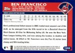 2003 Topps Traded #202 T  -  Ben Francisco First Year Back Thumbnail