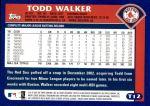 2003 Topps Traded #12 T Todd Walker  Back Thumbnail