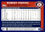 2003 Topps Traded #30 T Robert Person  Back Thumbnail