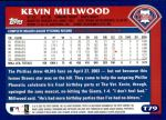 2003 Topps Traded #79 T Kevin Millwood  Back Thumbnail