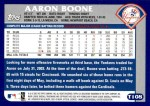 2003 Topps Traded #108 T Aaron Boone  Back Thumbnail