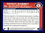 2003 Topps Traded #181 T  -  Hanley Ramirez First Year Back Thumbnail