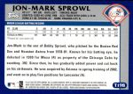 2003 Topps Traded #198 T  -  Jon-Mark Sprowl First Year Back Thumbnail