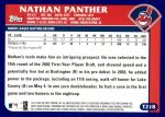 2003 Topps Traded #218 T  -  Nathan Panther First Year Back Thumbnail