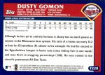 2003 Topps Traded #220 T  -  Dusty Gomon First Year Back Thumbnail