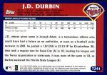 2003 Topps Traded #241 T  -  J.D. Durbin First Year Back Thumbnail