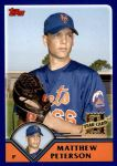 2003 Topps Traded #254 T  -  Matthew Peterson First Year Front Thumbnail
