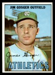 1967 Topps #17  Jim Gosger  Front Thumbnail