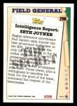 1993 Topps #296   -  Seth Joyner Field Generals Back Thumbnail
