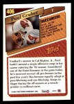 1993 Topps #406  Paul Gruber  Back Thumbnail