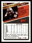 1993 Topps #454  Jesse Solomon  Back Thumbnail