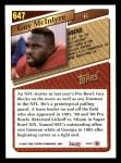 1993 Topps #647  Guy McIntyre  Back Thumbnail
