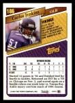 1993 Topps #186  Carlos Jenkins  Back Thumbnail