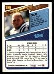 1993 Topps #255  Steve Emtman  Back Thumbnail