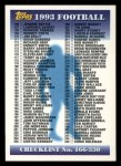 1993 Topps #330   Checklist 166-329 Front Thumbnail