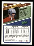 1993 Topps #600  Rick Mirer  Back Thumbnail