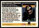1995 Topps #111  Dermontti Dawson  Back Thumbnail