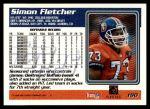 1995 Topps #190  Simon Fletcher  Back Thumbnail