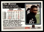 1995 Topps #310  Tim Brown  Back Thumbnail