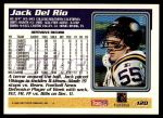 1995 Topps #120  Jack Del Rio  Back Thumbnail