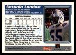 1995 Topps #354  Antonio London  Back Thumbnail