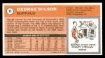 1970 Topps #11  George Wilson   Back Thumbnail
