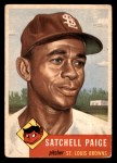 1953 Topps #220  Satchel Paige  Front Thumbnail