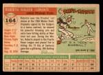 1955 Topps #164  Roberto Clemente  Back Thumbnail