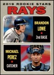 2019 Topps Heritage #9   -  Brandon Lowe / Michael Perez Braves Rookie Stars Front Thumbnail