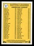 2019 Topps Heritage #62   -  Mookie Betts / J.D. Martinez / Jose Altuve AL Batting Leaders Back Thumbnail