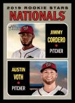 2019 Topps Heritage #154   -  Austin Voth / Jimmy Cordero Nationals Rookie Stars Front Thumbnail