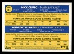 2019 Topps Heritage #381   -  Andrew Velazquez / Nick Ciuffo Rays Rookie Stars Back Thumbnail