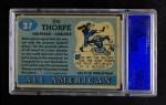 1955 Topps #37  Jim Thorpe  Back Thumbnail