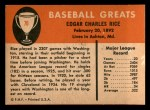 1961 Fleer #70  Sam Rice  Back Thumbnail
