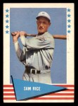 1961 Fleer #70  Sam Rice  Front Thumbnail
