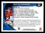 2010 Topps #201   -  Kyle Orton / Knowshon Moreno Broncos Team Back Thumbnail