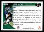 2010 Topps #413  Leonard Weaver  Back Thumbnail