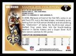 2010 Topps #6  Marques Colston  Back Thumbnail