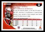 2010 Topps #80  Larry Fitzgerald  Back Thumbnail
