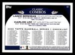 2009 Topps #61   -  Lance Berkman / Carlos Lee Bash-Stros Back Thumbnail