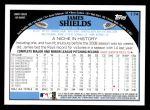 2009 Topps #174  James Shields  Back Thumbnail