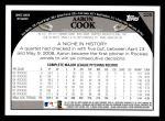 2009 Topps #225  Aaron Cook  Back Thumbnail