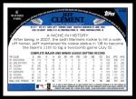 2009 Topps #448  Jeff Clement  Back Thumbnail