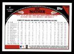 2009 Topps #122  Joe Mather  Back Thumbnail