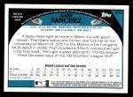 2009 Topps #202  Gaby Sanchez  Back Thumbnail