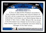 2009 Topps #555  Joe Girardi  Back Thumbnail