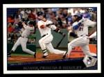 2009 Topps #43   -  Joe Mauer / Dustin Pedroia / Milton Bradley AL Batting Leaders Front Thumbnail