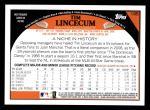 2009 Topps #195  Tim Lincecum  Back Thumbnail
