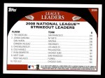 2009 Topps #259   -  Tim Lincecum / Dan Haren / Johan Santana NL Strikeout Leaders Back Thumbnail