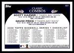2009 Topps #321   -  Scott Kazmir / David Price Ray Guns Back Thumbnail
